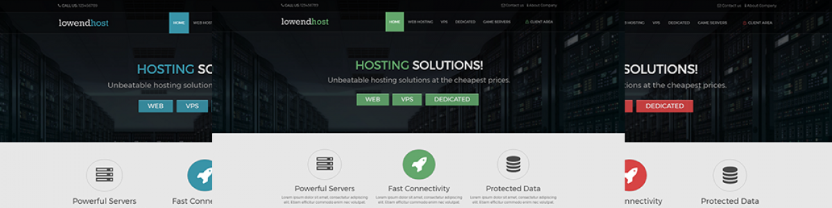 LowEndHost – Free WHMCS hosting template!