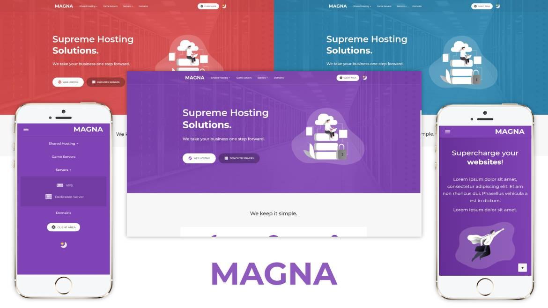 Magna, Premium WHMCS & Blesta hosting theme.